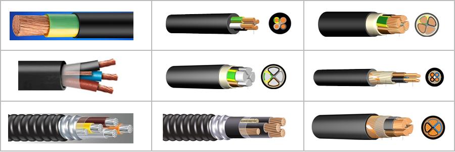 Tipos de cables de alta tensión